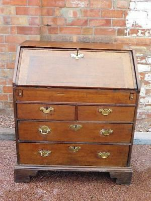 A Good Sized Antique Country Oak Writing Bureau Desk