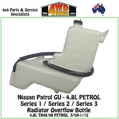 Radiator Overflow Bottle suits Nissan Patrol GU 4.8L PETROL 3/09-1/12