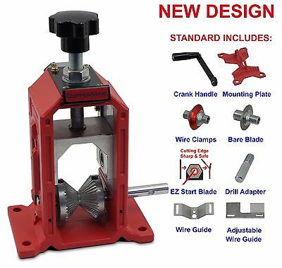 NEW Copper Wire Stripping Machine Manual Crank & Drill Operated Copper Stripper