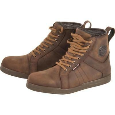 Akito Citizen Motorcycle Boots Brown Waterproof Windproof
