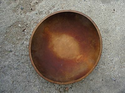 "Vintage Very Large Wood Bowl 5 1/2"" Tall 19"" dia. Very Rare Size   Lot 17-46-20"