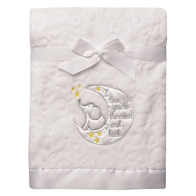 Baby Starters Sculpted Micro Velour Blanket with Satin Applique, I Love You to T