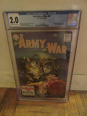 Our Army At War # 81 - Cgc - (2.0) - 1St Appearance Of Sgt. Rock - 1959 - Dc