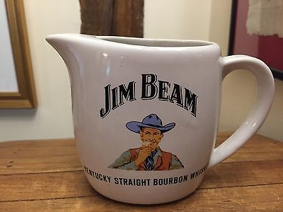 Vintage Jim Beam Bourbon  Porcelain Decorative Water Jug Man Cave Pub Home Bar