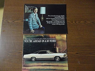 Vintage Ford Lincoln Mercury Sales Brochures 1967 and 1975 - Dream Cruise