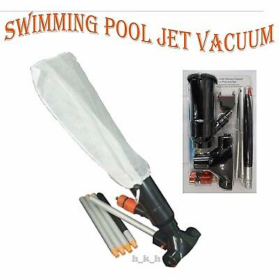 Swimming Pool Super Jet Vacuum With 5 Pole Sections Cleaning Hoover Suction Spa