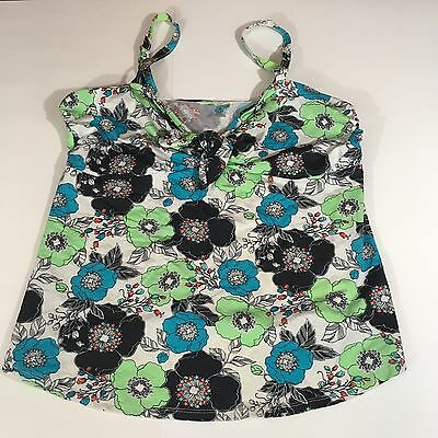 Old Navy Maternity Multi Color Floral Tankini Swimsuit Top Size Large