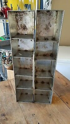 vintage tool box stainless steel industrial decor storage steam punk