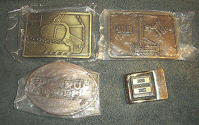 Bucyrus Erie Belt Buckles - LOT OF 4 - 3 NEW in the package! Estate Sale items!