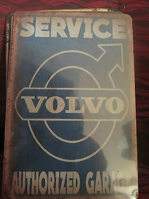 volvo authorized garage   tin metal sign MAN CAVE brand new