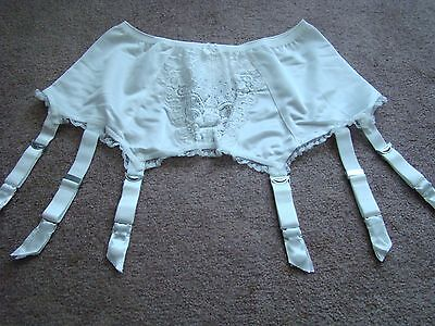 Vintage New Garter Belts 6-strap Suspender Belt White Large L  Lace Cleopatra