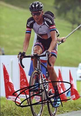 Warren Barguil - Autographed - Signed 5X7 inches 2015 TDF Giant-Alpecin Photo