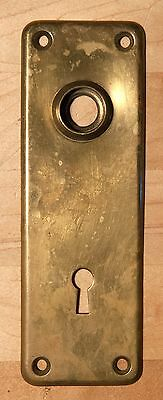 Vintage Y&T YALE Solid Brass Door Plate Plate Skeleton Key Metal Plates #2