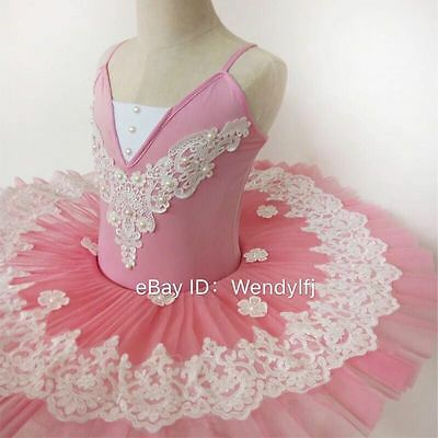 Adult Professional Ballet Platter Tutu Skirt Dance Dress Pink Classic Costume