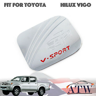 For Toyota Hilux Vigo Champ Sr5 Mk6 Mk7 05+ Chrome Fuel Cap Tank Cover Trim