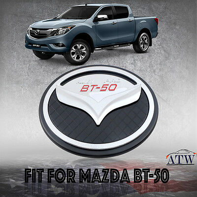 Abs Plastic Chrome Black Fuel Oil Tank Cap Cover Fit For Mazda Bt50 2012+