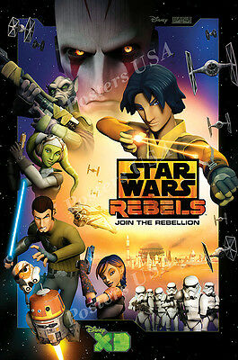 Star Wars Resistance TV Show Series Poster Glossy Finish TVS793 Posters USA