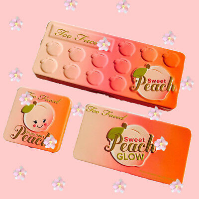 Three Sets Face Makeup 18 Colors SWEET PEACH Glow + Eyeshadow + Blush Palette