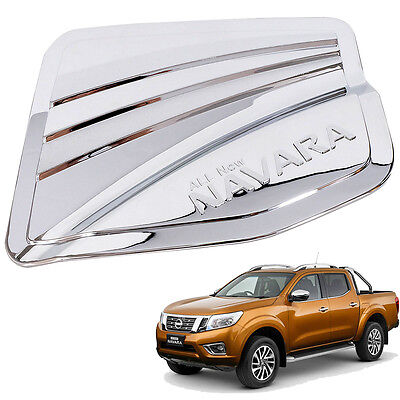 For 15 Nissan Navara NP300 Frontier 4 Door Fuel Tank Cap Cover Chrome trim  4WD