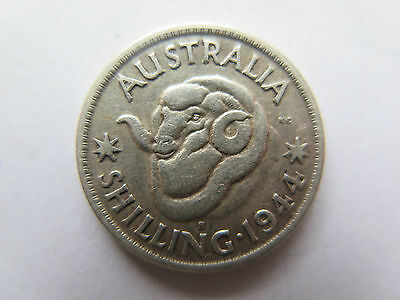 AUSTRALIAN 1944 S SILVER SHILLING King George VI in NICE COLLECTABLE CONDITION