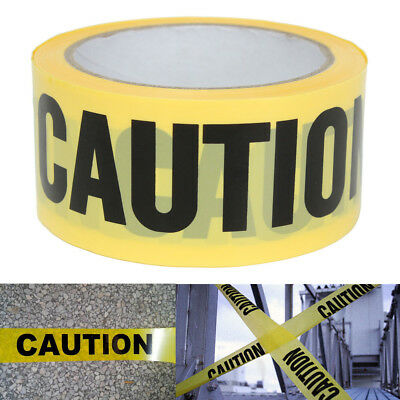 Yellow Caution Safety Tape Roll Sticker For Barrier Police Barricade 50mx5cm