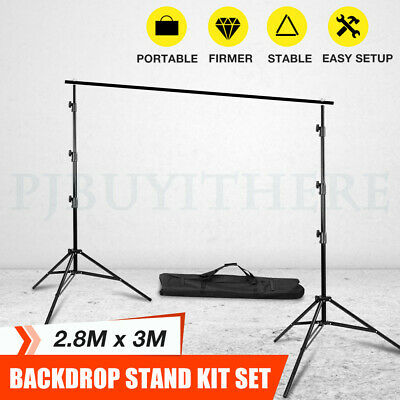 2.8x3M Photo Video Studio Backdrop Photography Background Support Stand Frame AU