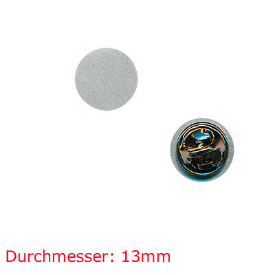 10 Pin Rohlinge 13 mm - Neu - Blankopins Metall Button Badge Pin Anstecker 0809