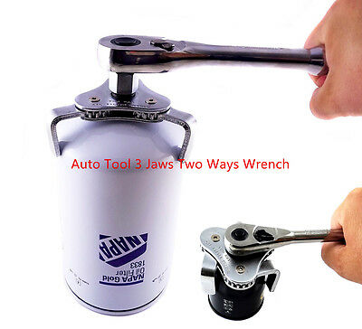 Universal Auto Tool 3 Jaws Two Ways 55-108mm Oil Filter Wrench Spanner Remover