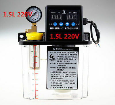 1.5L Dual Digital Display Automatic Lubrication Pump Oiler NC Pump 6mm 220V a
