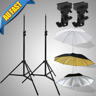 "Photography Kit Light Stand Speedlite Umbrella Lighting +Bracket B+33"" Umbrella"