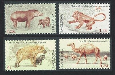 Moldova Tapir Monkey Hyena Camel Extinct Fauna 4v MI#980-83