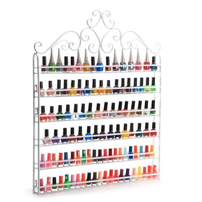 BEST DIY Mounted 6 Shelf Nail Polish Display Wall Rack Organizer holder Sets AY