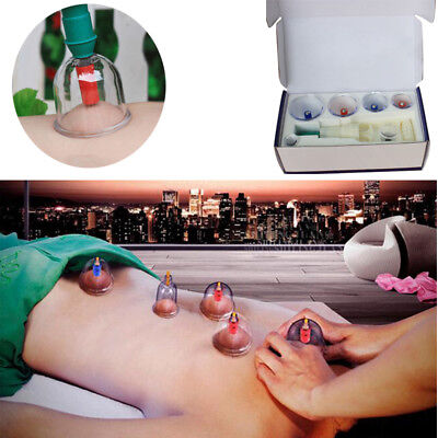Cups Chinese Traditional Medical Vacuum Cupping Suction Therapy 6pcs Massage Set