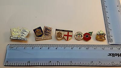 Wigan Athletic FC- Collectable set of 5 Badges- Free P&P- Clearance- Great Value