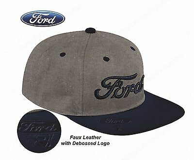 Ford PREMIUM 3D CAP - Embroidered with Faux Leather Debossed logo