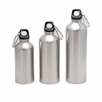New Stainless Steel Sports Cycling Water Bottle Wide Mouth Drink Bottle Kettle