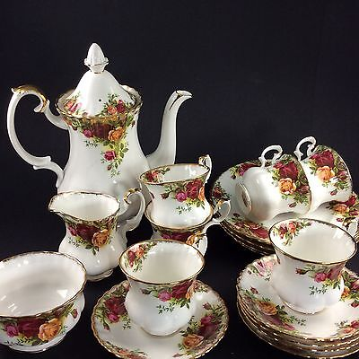 Old Country Roses - Royal Albert - Kaffeeservice für 6 Pers. - Bone China  #7171