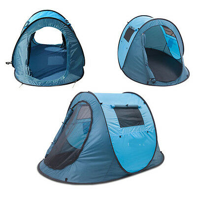 New Quick Pitch Instant Erect Camping Pop Up Tent 1 - 2 Man Berth Person Sleeper