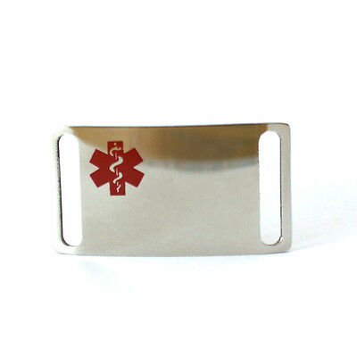 Medical ID Plate Engraveable Stainless Steel
