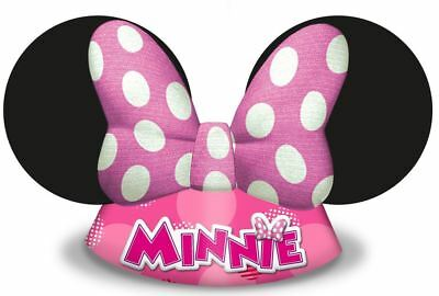 6pk Minnie Mouse Die-Cut Hats Children's Birthday Party Favours Gift Loot