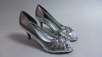 Touch Ups Wedding Shoes - Silver - Ivanna - US 7M UK 5 #37R148