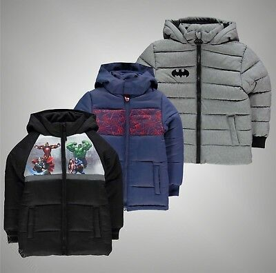 Infant Boys Branded Character Printed Full Zip Padded Coat Jacket Size Age 2-13
