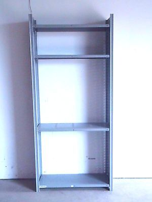 Lyon 8000 Series Gray Closed Shelving 7 Sections 6 Shelves Each 20 Gauge