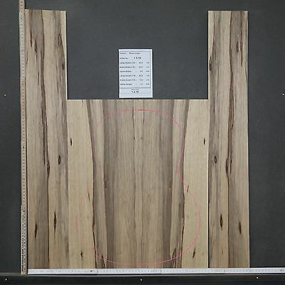 Tonewood Black Limba 1316 Figured Tonholz Guitar Builder Acoustic Backs Side SET