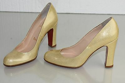 d9be6622054 NEW CHRISTIAN LOUBOUTIN SIMPLE PUMP 100 Patent Beige Nude Glitter Shoes 37.5