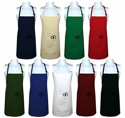 Plain Apron poly cotton Cooking Kitchen Chef Baking Butchers Craft BBQ Catering