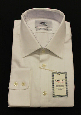 Charles Tyrwhitt Extra Slim Fit Egyptian Cotton Cavalry Twill Shirt MM1 16/33
