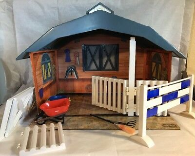 Breyer Stable Horse Farm Barn w Accessories - Incomplete