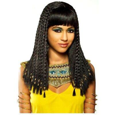 Cleopatra Wig Adult Womens Egyptian Halloween Costume Fancy Dress
