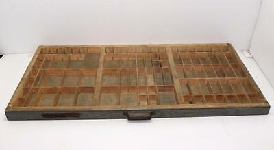 Vintage HAMILTON Wooden Typeset Tray Printers Wood Letter Press Drawer Shadowbox